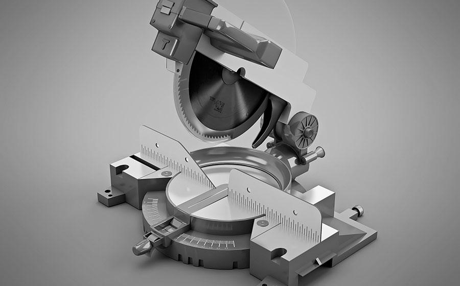 Vídeo de ingletadora modelo 3D