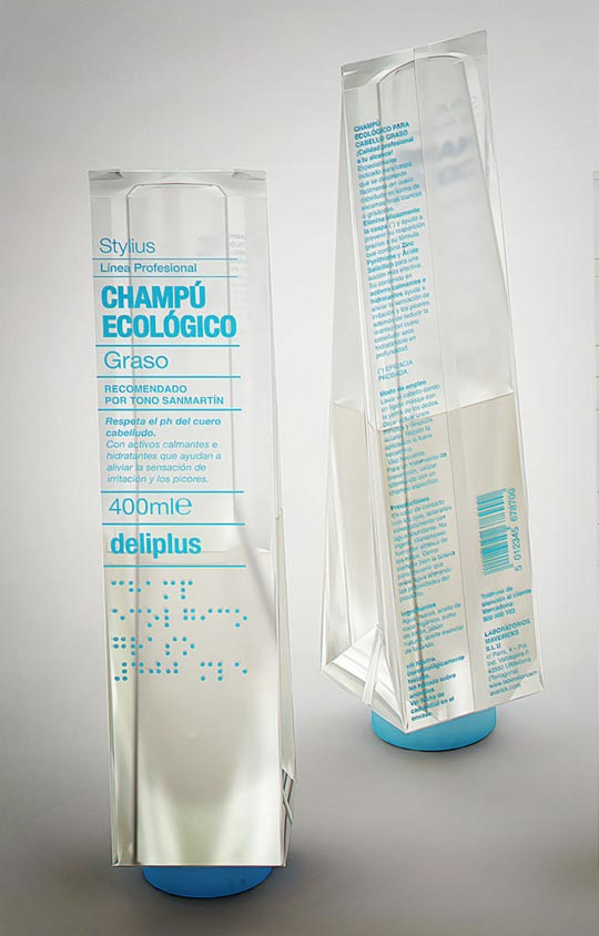 packaging champú ecológico Deliplus