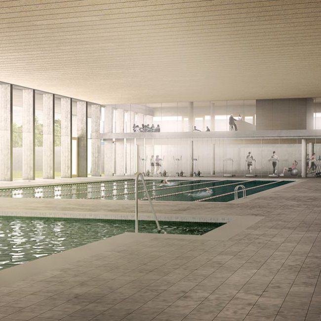 piscina polideportivo 3D