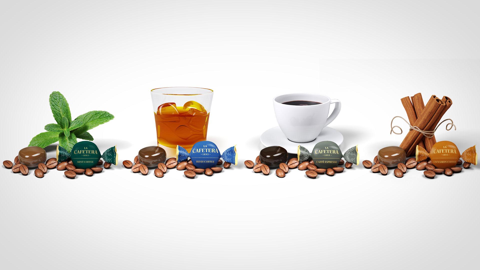 Creatividad 3D Caramelos de Café